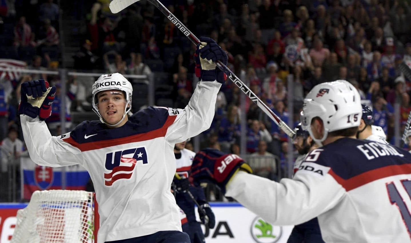 Les États-Unis l'emportent 6-1 contre la Slovaquie au Mondial de hockey