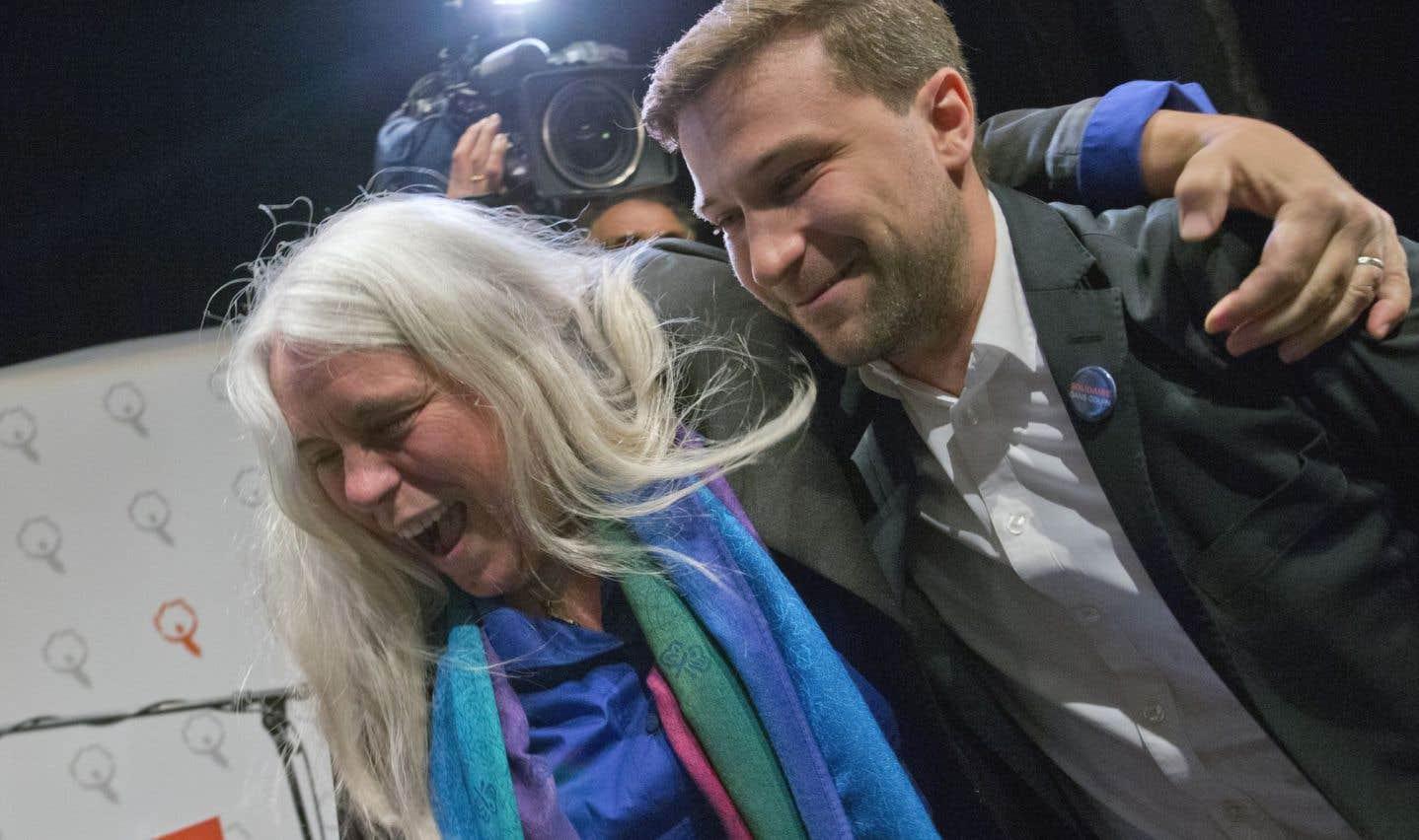 Gabriel Nadeau-Dubois et Manon Massé élus porte-parole de Québec solidaire