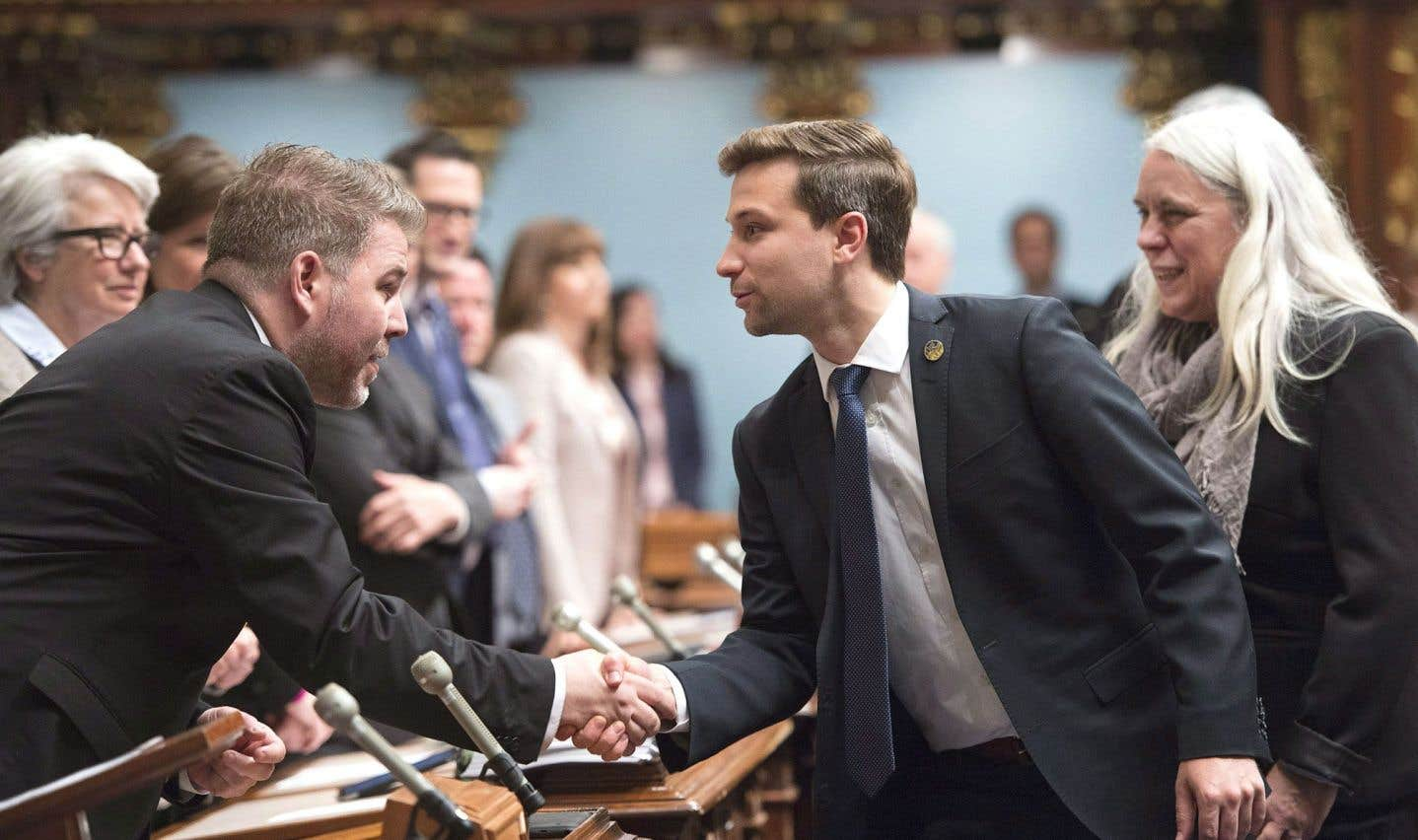 Le député Nadeau-Dubois fait ses premiers pas à l'Assemblée nationale