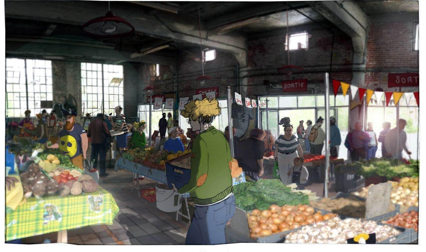 L'Oil Store, un édifice détaché du reste, au bout du bâtiment, accueillera une serre intérieure, un espace collaboratif culinaire et une aire polyvalente, où se tiendront des événements et des marchés fermiers.