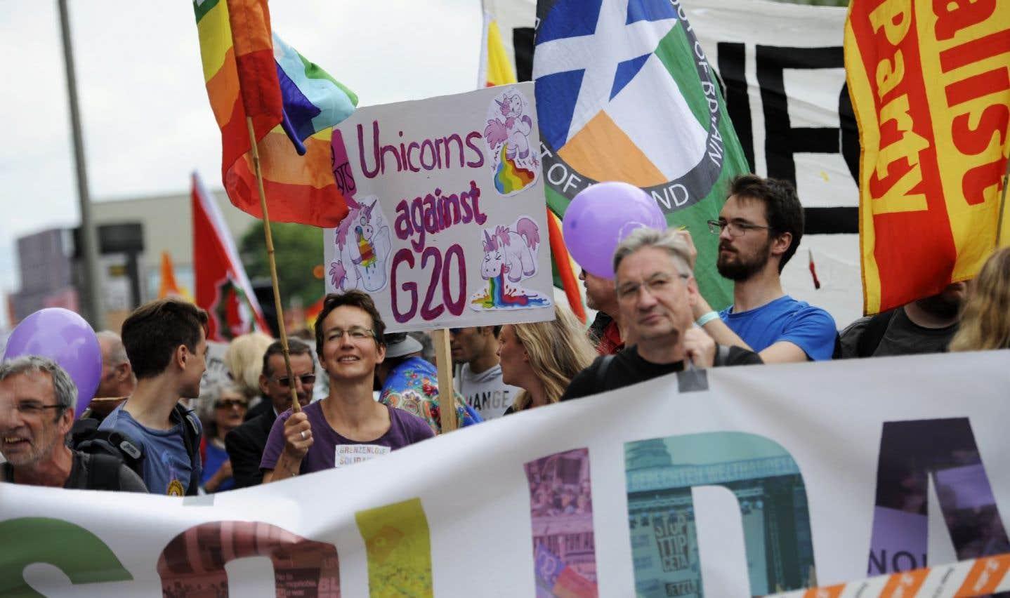 Manifestation pacifique en marge de la clôture du G20