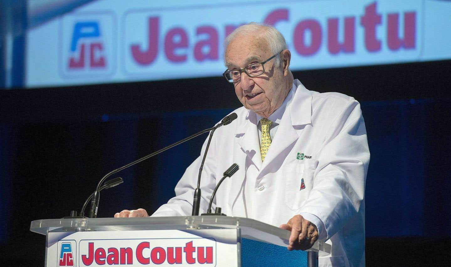 Jean Coutu a profité de l'assemblée annuelle des actionnaires pour revenir sur ses «relations difficiles» avec le ministre de la Santé, Gaétan Barrette.