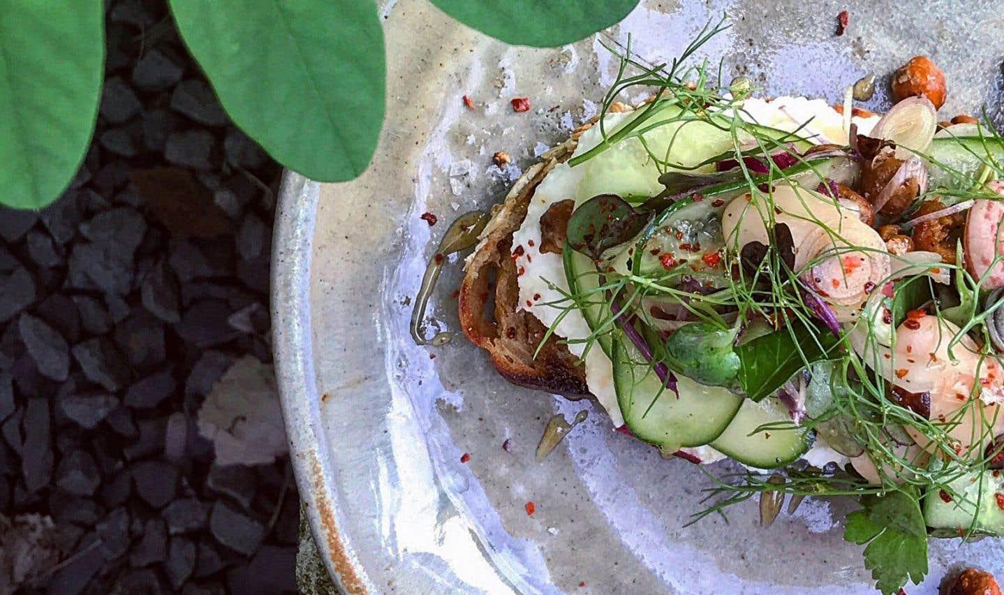 La recette de tartine à la ricotta et salade de concombre