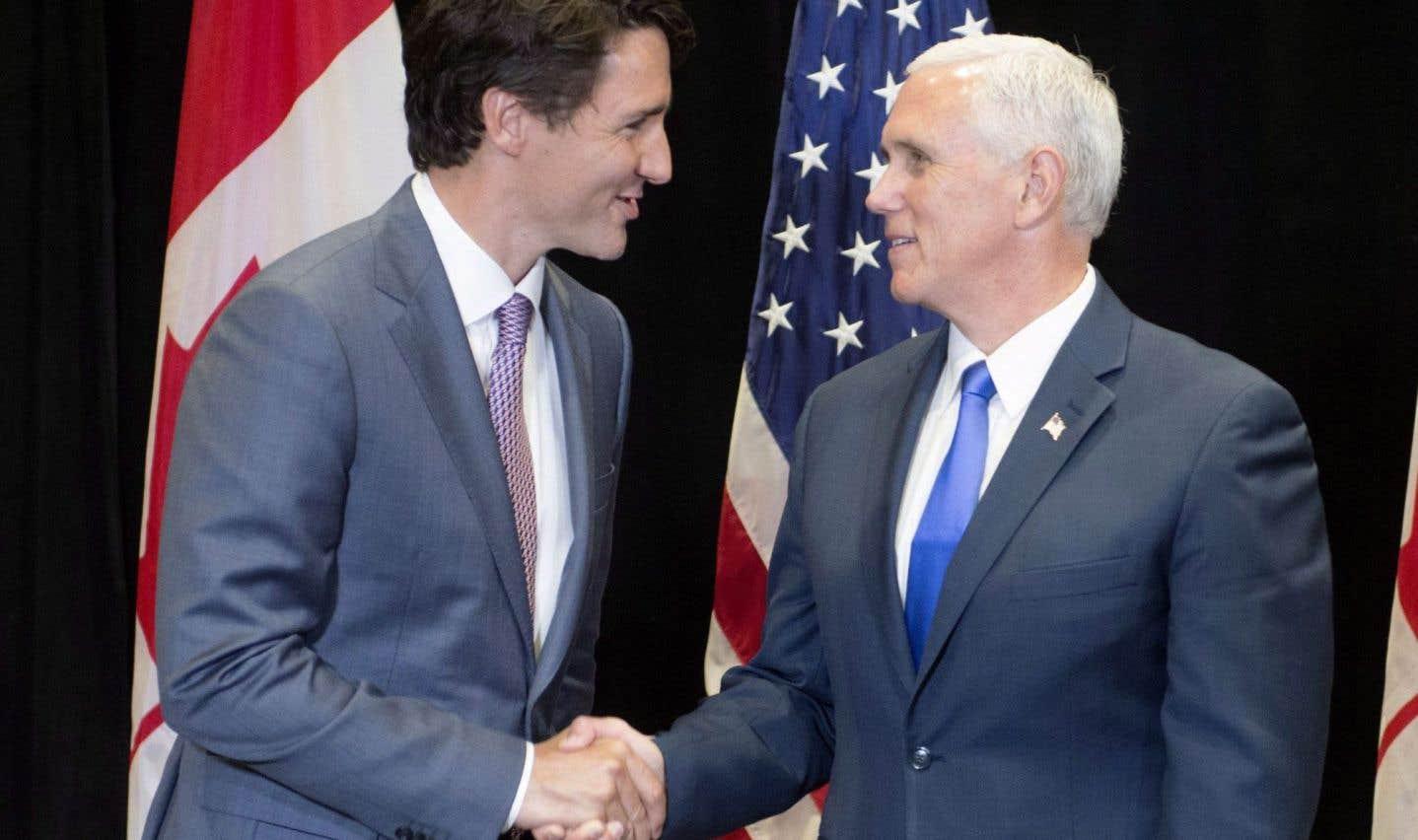Justin Trudeau discute de l'ALENA avec des gouverneurs américains