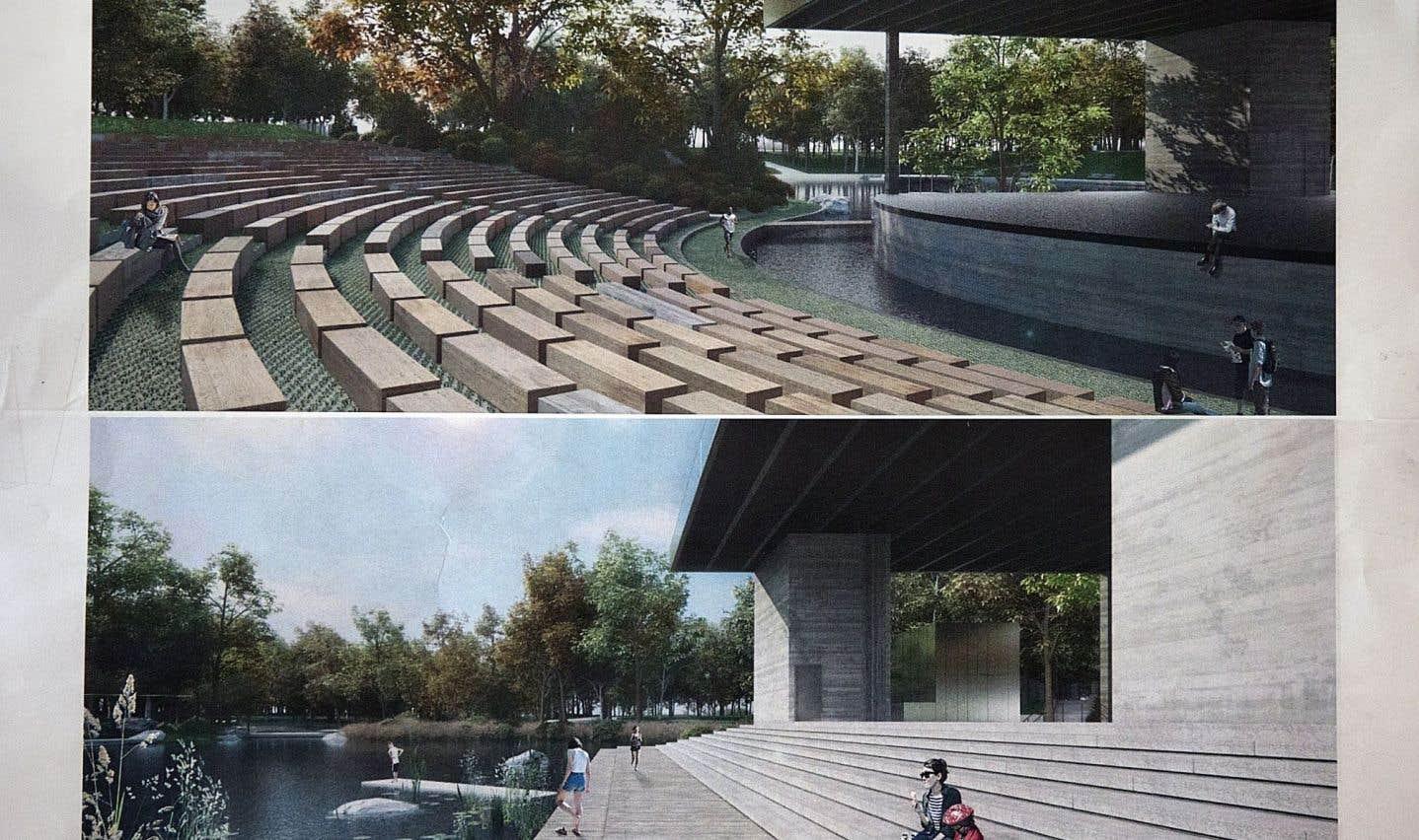 Un Théâtre de Verdure «romantique» pour le parc La Fontaine