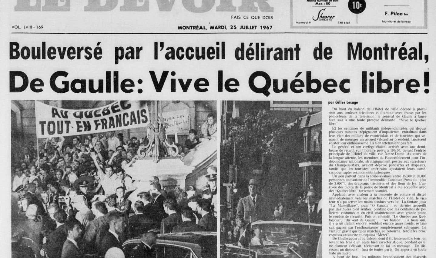 Il y a 50 ans, le général de Gaulle débarquait au Québec
