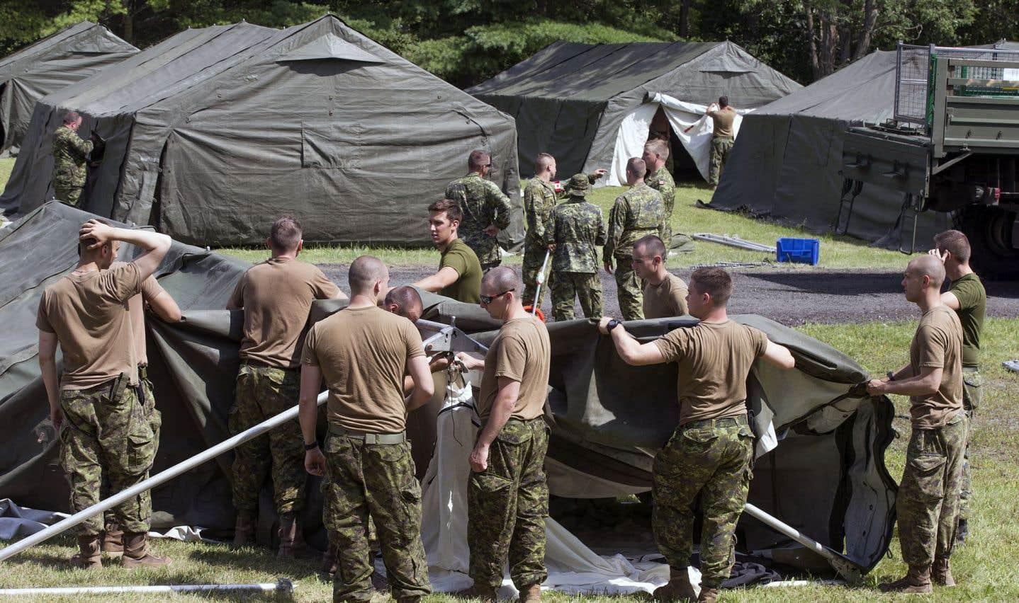 Un camp pour les demandeurs d'asile à Lacolle
