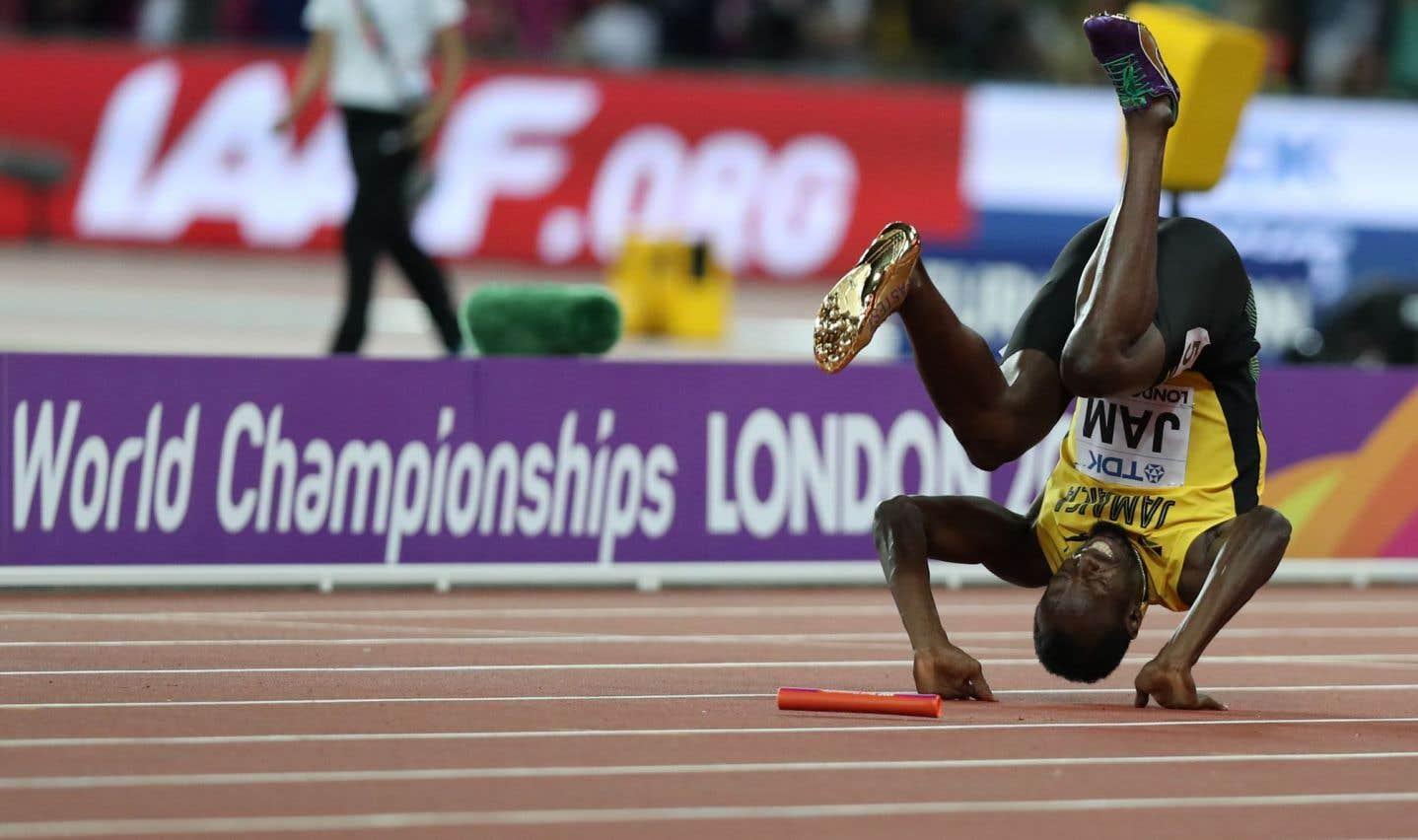 Le sprinteur jamaïcain Usain Bolt s'est blessé au 4x100m, samedi, à Londres.
