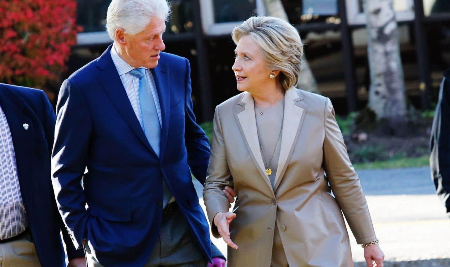 Les Clinton en vacances en Estrie pour une semaine