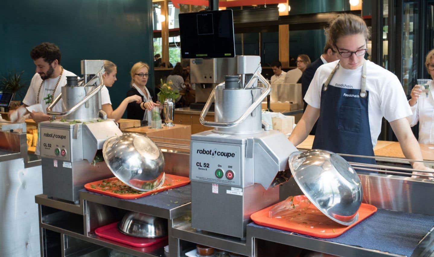 Foodchain propose huit plats de légumes découpés en fines lamelles et servis en un clin d'œil. Huit mélanges originaux.