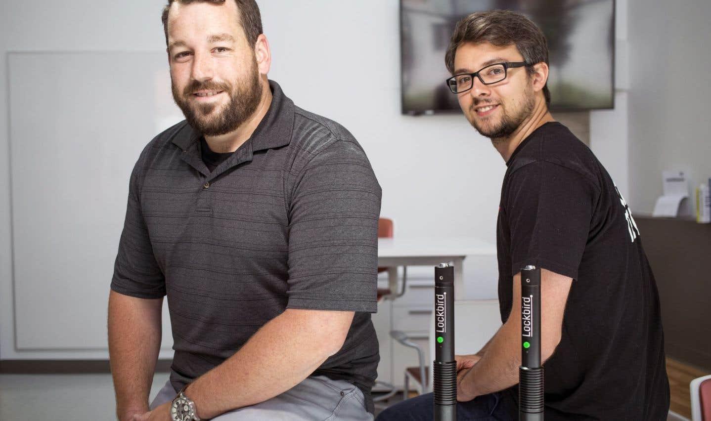 Mathieu Hamel et Julien Chosson, qui pilotaient chacun un projet d'entrepreneuriat, ont décidé d'unir leurs forces au sein de Lockbird.