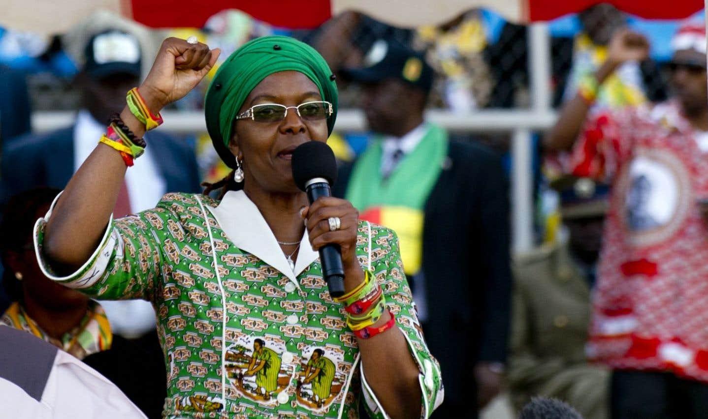 Le gouvernement zimbabwéen n'a fait aucun commentaire sur les derniers déboires de Grace Mugabe, 52ans, connue pour ses accès de colère.