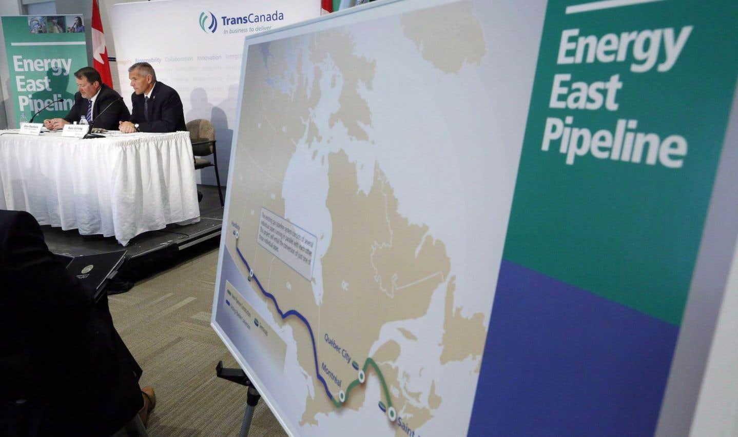 TransCanada demande la suspension de l'étude d'Énergie Est