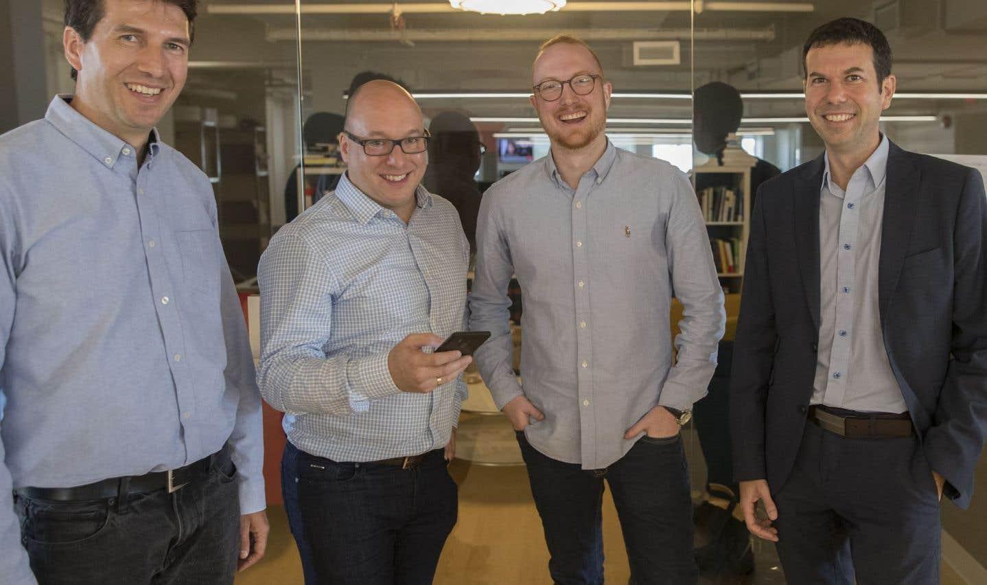 Les quatre cofondateurs de Heyday: David Bordeleau, Steve Desjarlais, Étienne Mérineau et Hugues Rousseau