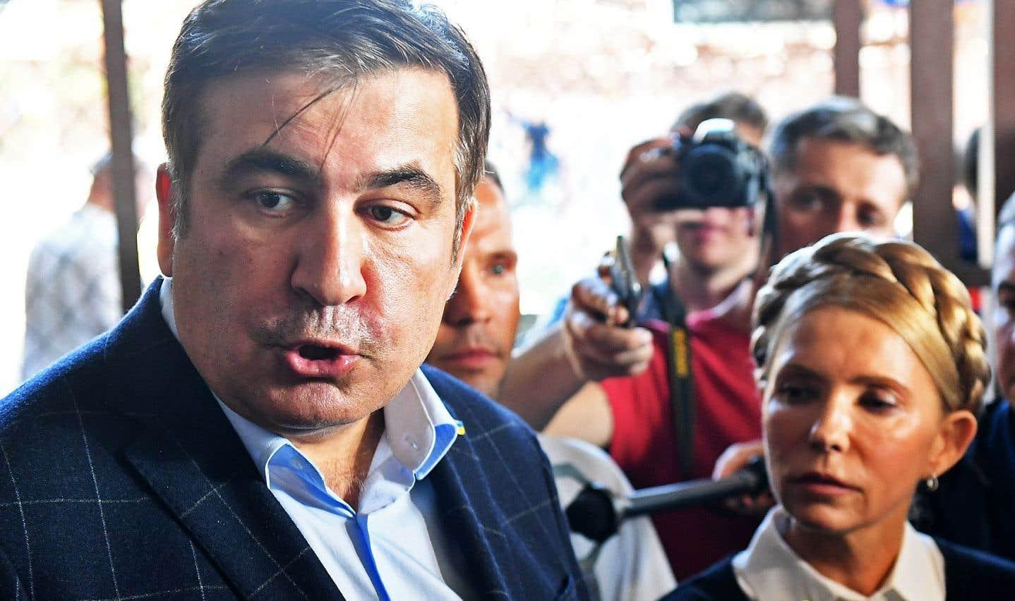L'ex-président géorgien Saakachvili entre de force en Ukraine