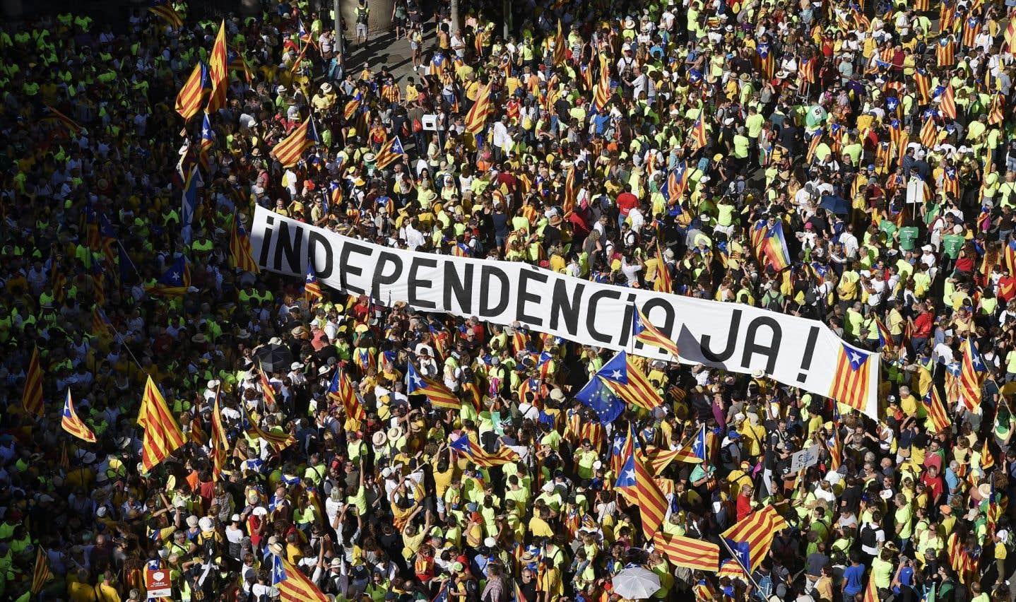 Démonstration de force des indépendantistes avant leur référendum en Catalogne