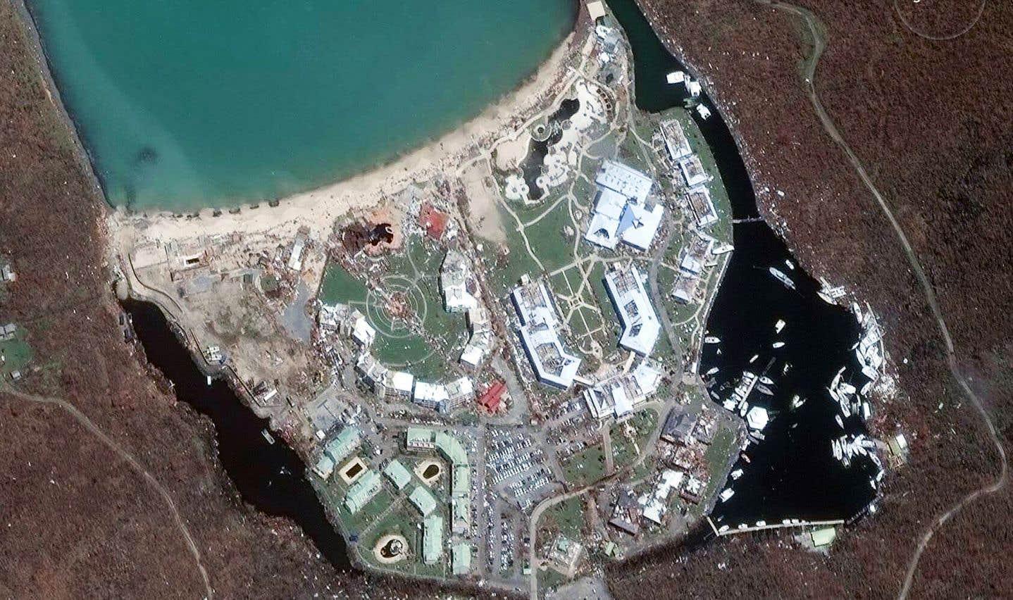 Les ravages d'«Irma» dans l'oeil des satellites