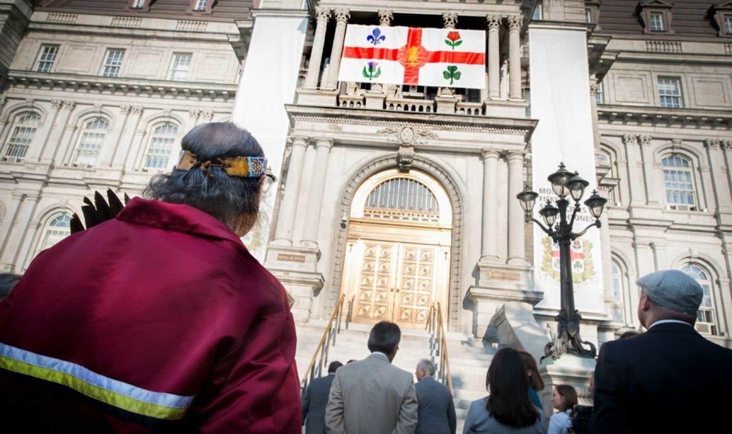 Une place pour les autochtones sur le drapeau de Montréal