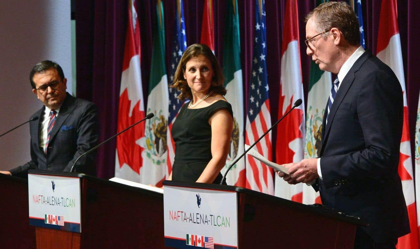 ALENA: le Canada et le Mexique attendent toujours que les Américains ouvrent leur jeu
