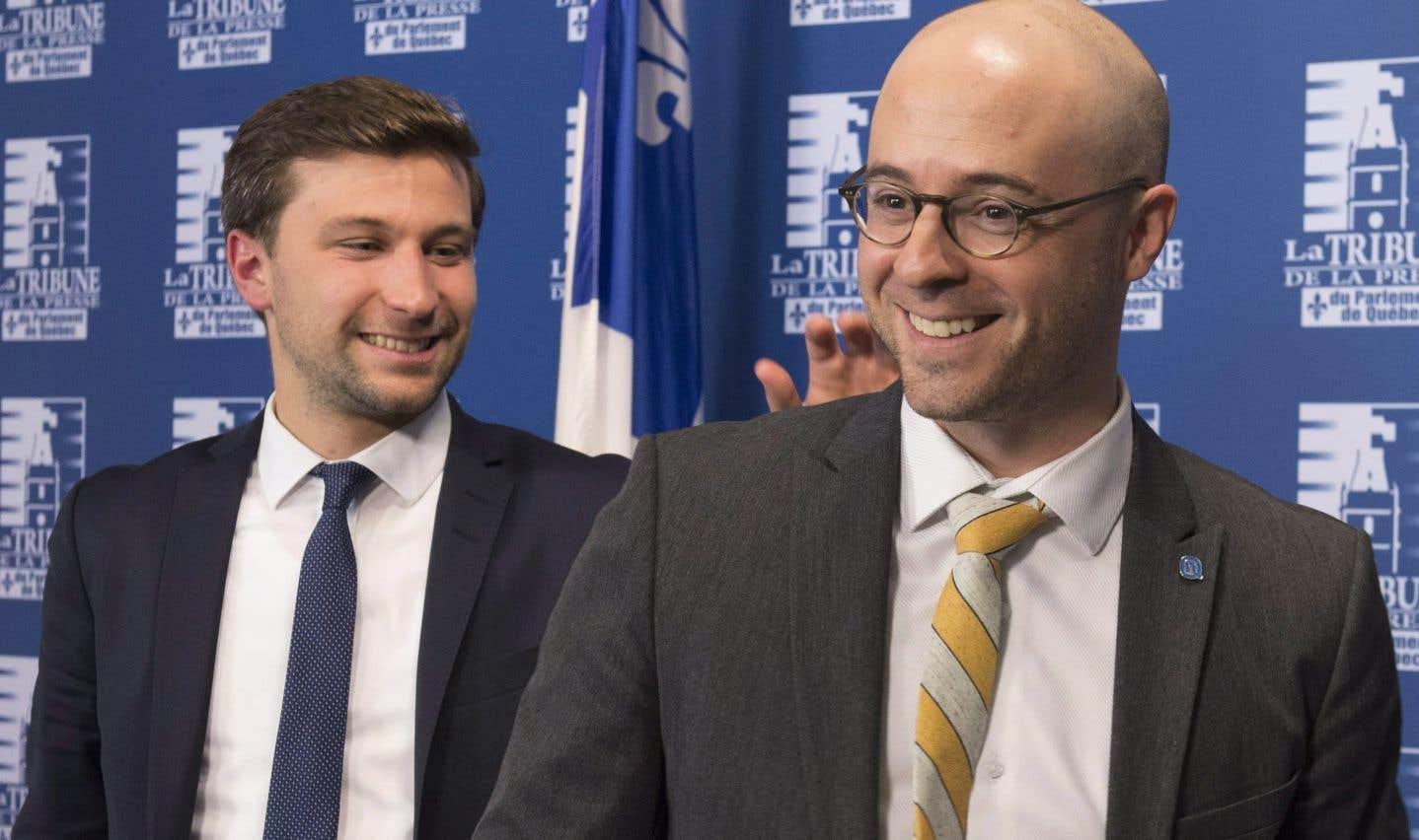 Gabriel Nadeau-Dubois et Sol Zanetti ont dévoilé une entente de principe jeudi dernier.