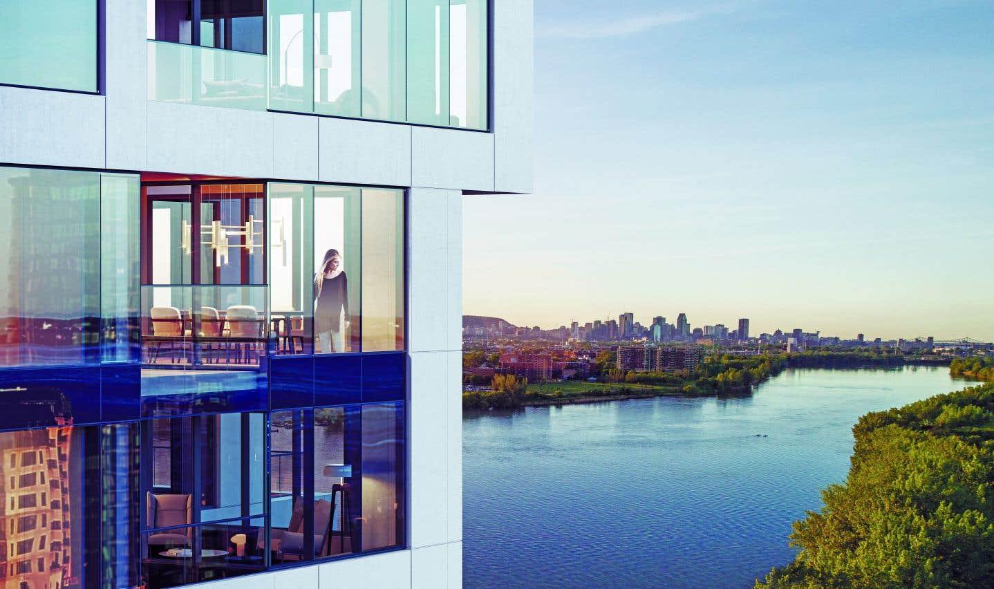 La majorité des 240 appartements du projet bénéficieront de perspectives imprenables sur la ville ou sur l'eau.