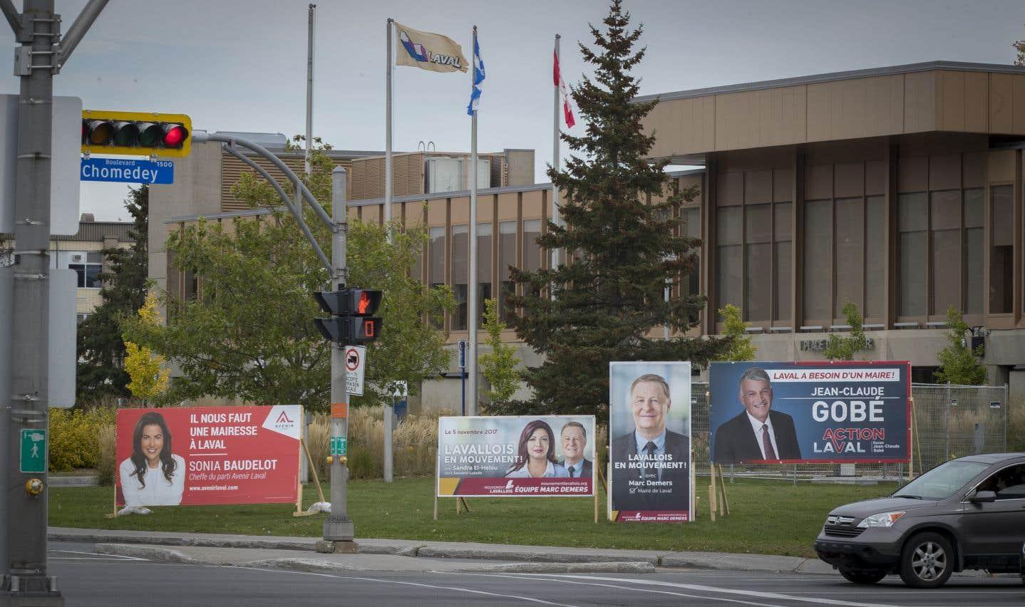 Un total de sept candidats sont en lice pour obtenir le siège de maire à Laval.
