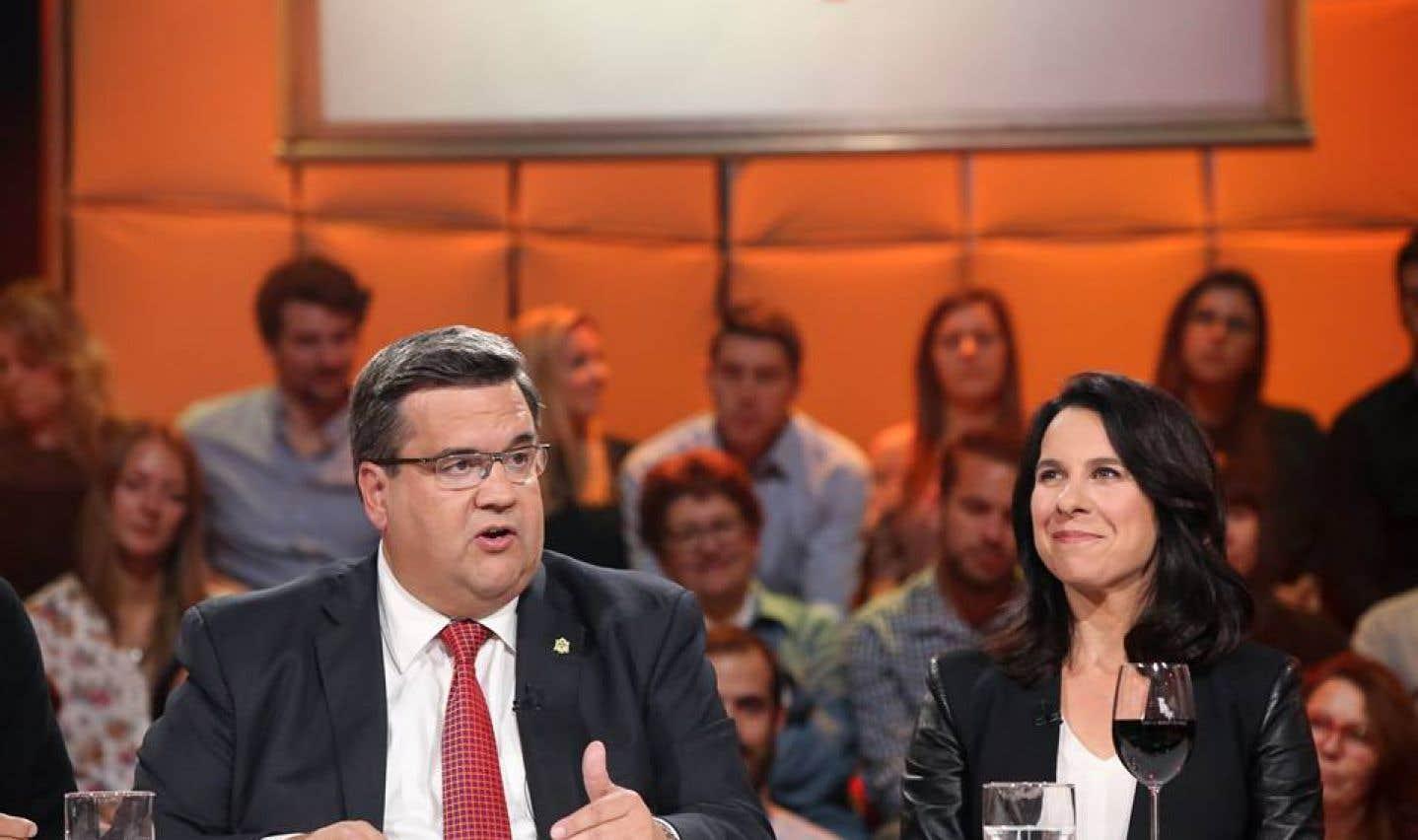 Denis Coderre et Valérie Plante sur le plateau de «Tout le monde en parle»