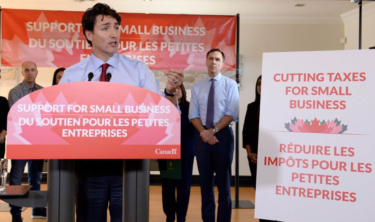Réforme fiscale: Trudeau baissera les impôts des PME pour calmer le jeu