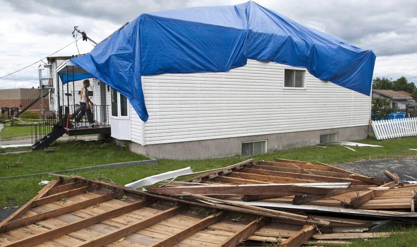 Une tornade a bel et bien frappé Mont-Laurier dimanche