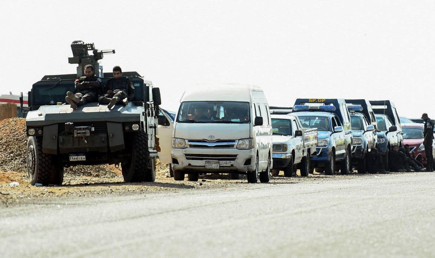 Les affrontements avec des insurgés islamistes ont eu lieu dans le désert occidental au sud-ouest duCaire.