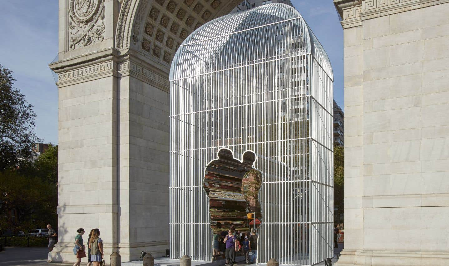 Du projet in situ d'Ai Weiwei «Good Fences», son installation sous l'arche.