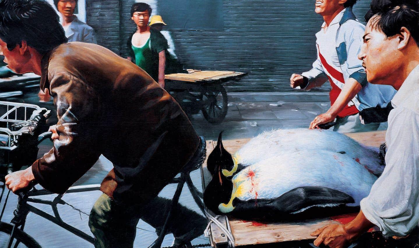 Un tableau de Wang XingWei.