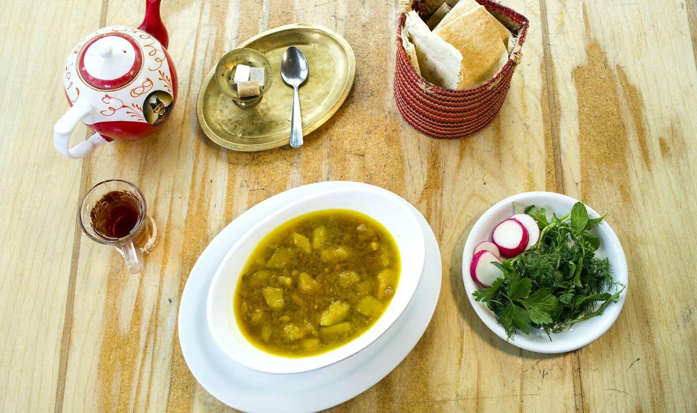 La recette de soupe aux lentilles et à la citrouille de Heméla Pourafzal