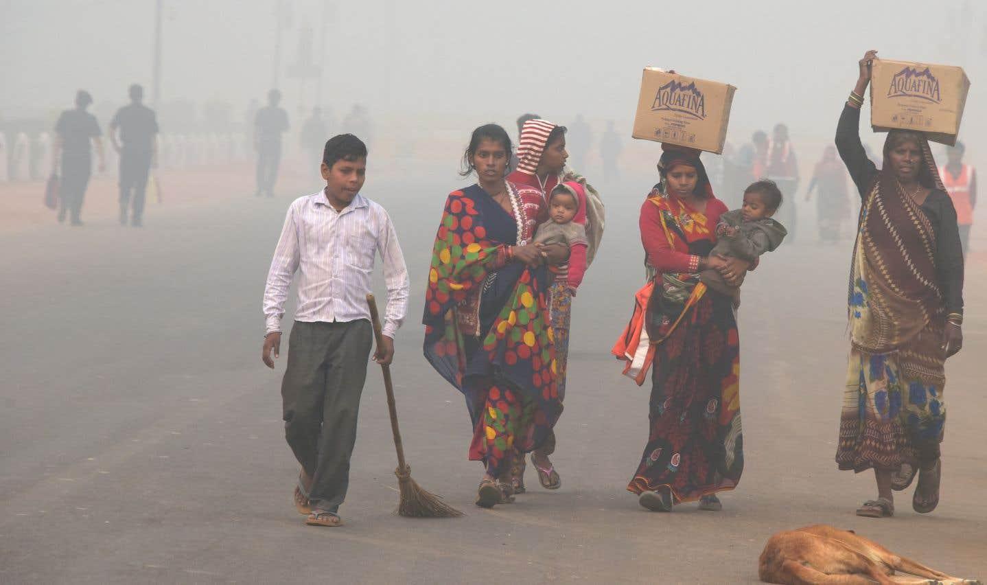 La pollution continue de suffoquer le nord de l'Inde et du Pakistan