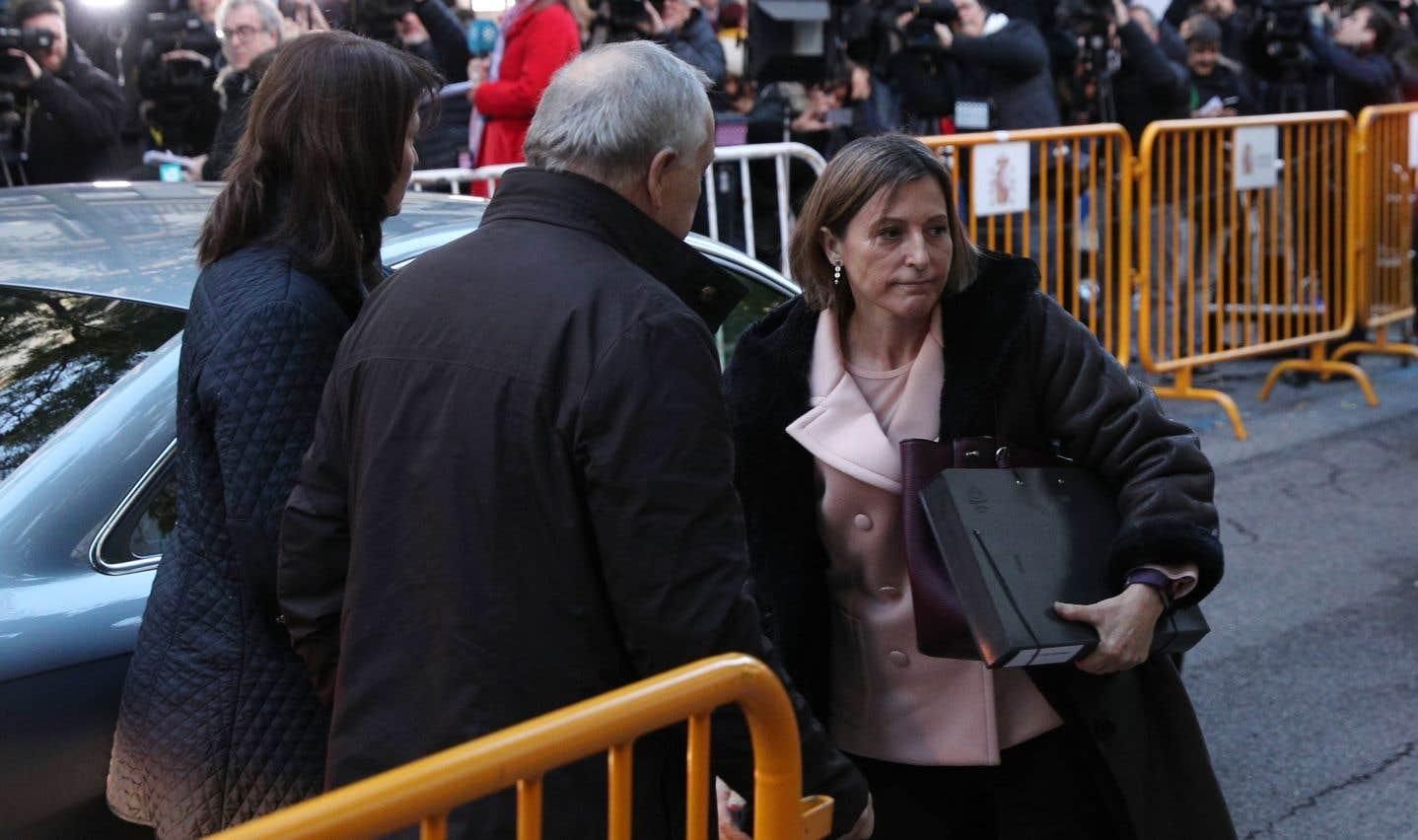 La présidente du Parlement catalan écrouée