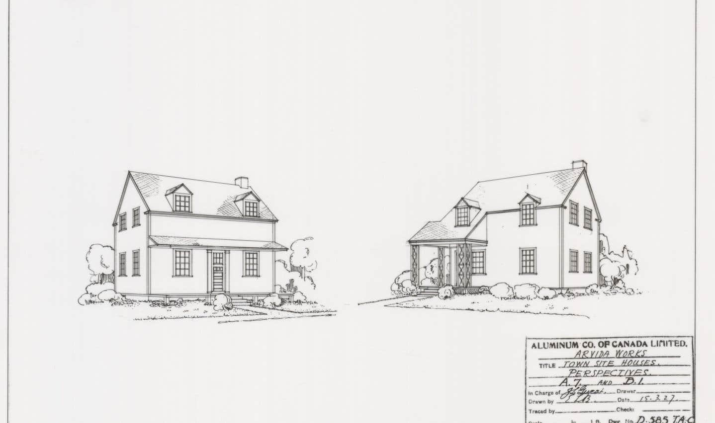L'entreprise fait construire plus de 100 modèles distincts pour les 2000 résidences que doit compter la ville. Du jamais vu. Les concepteurs créent des modèles inspirés de la maison canadienne et permutent certains motifs architecturaux pour qu'on puisse les distinguer.