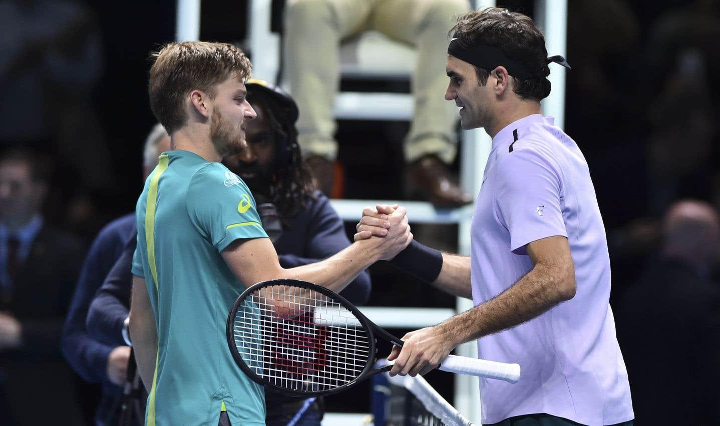 David Goffin surprend Roger Federer pour atteindre la finale à Londres