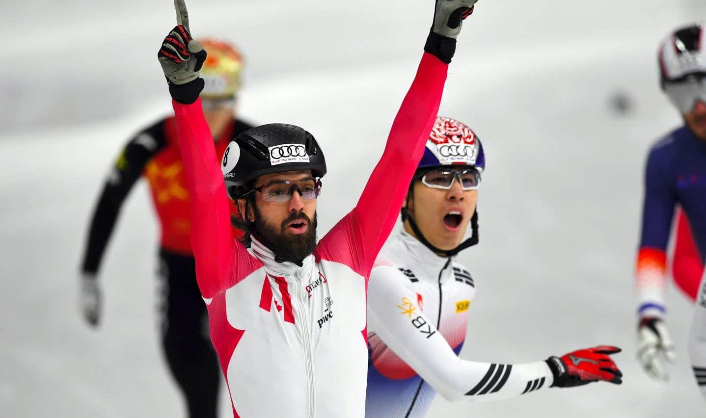 Charles Hamelin remporte l'or au 1500 mètres à la Coupe du monde de Séoul