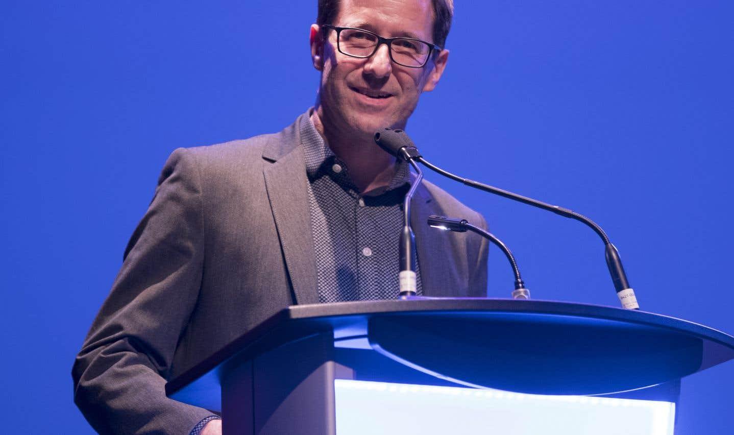 Le journaliste Marco Fortier