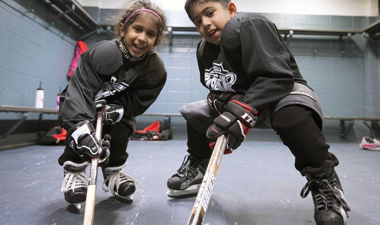 S'intégrer au Québec par le hockey