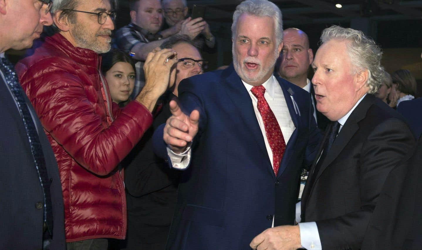 Premiers ministres ancien et actuel ont affiché une franche complicité, samedi soir, lors du congrès du Parti libéral, à Québec.