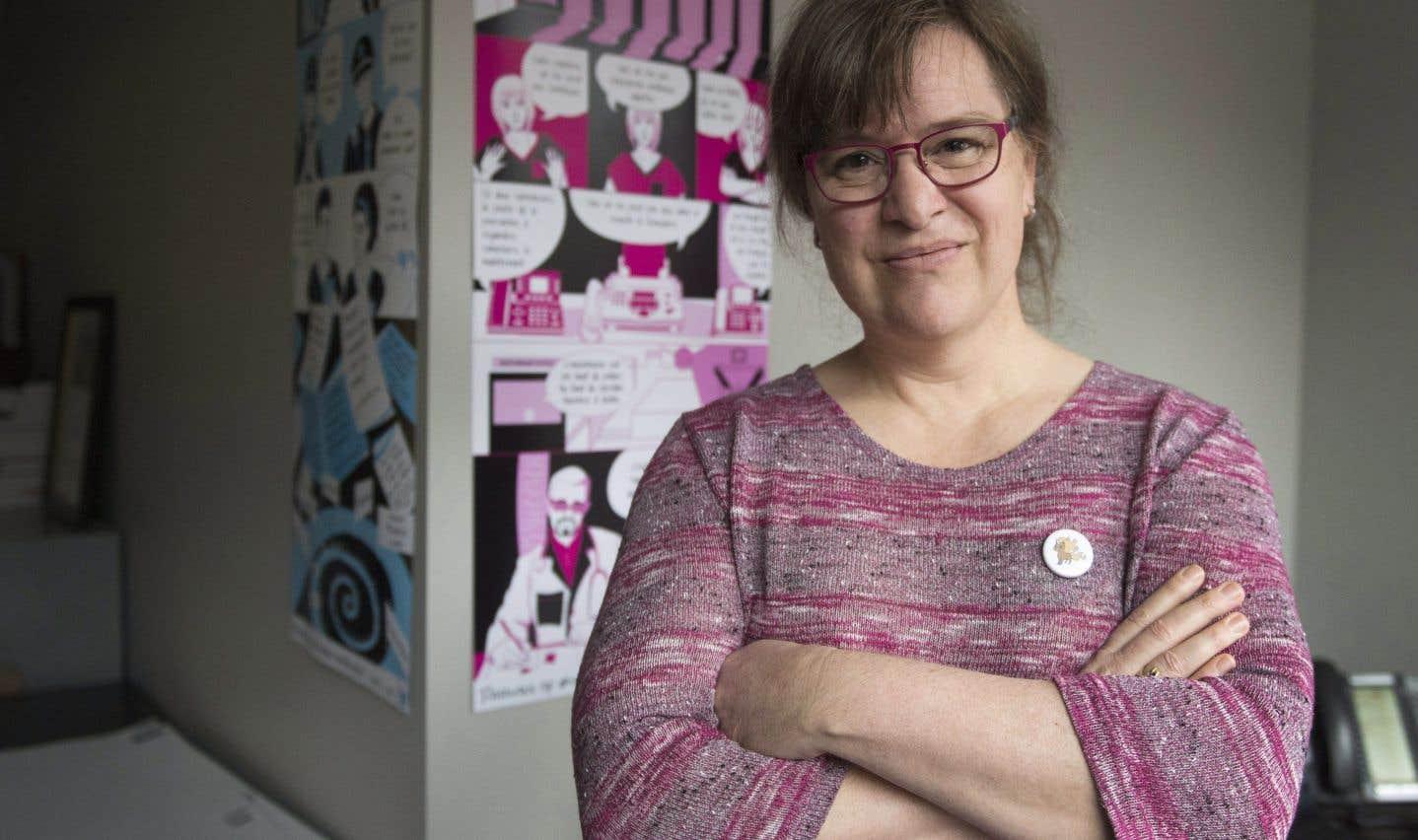 Gabrielle Bouchard est la première femme trans a être élue à la présidence de la Fédération des femmes du Québec.