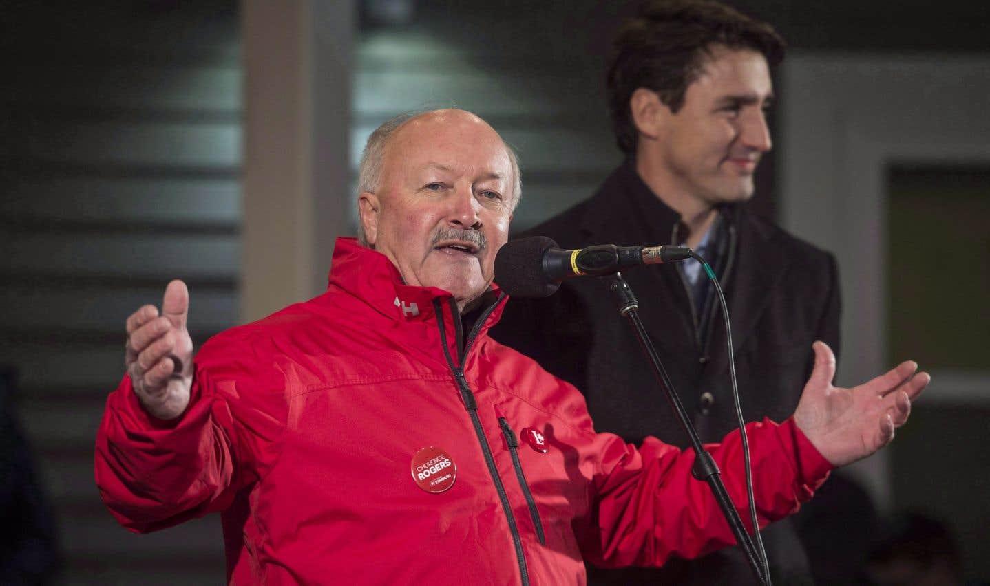 Churence Rogers avec Justin Trudeau en novembre dernier