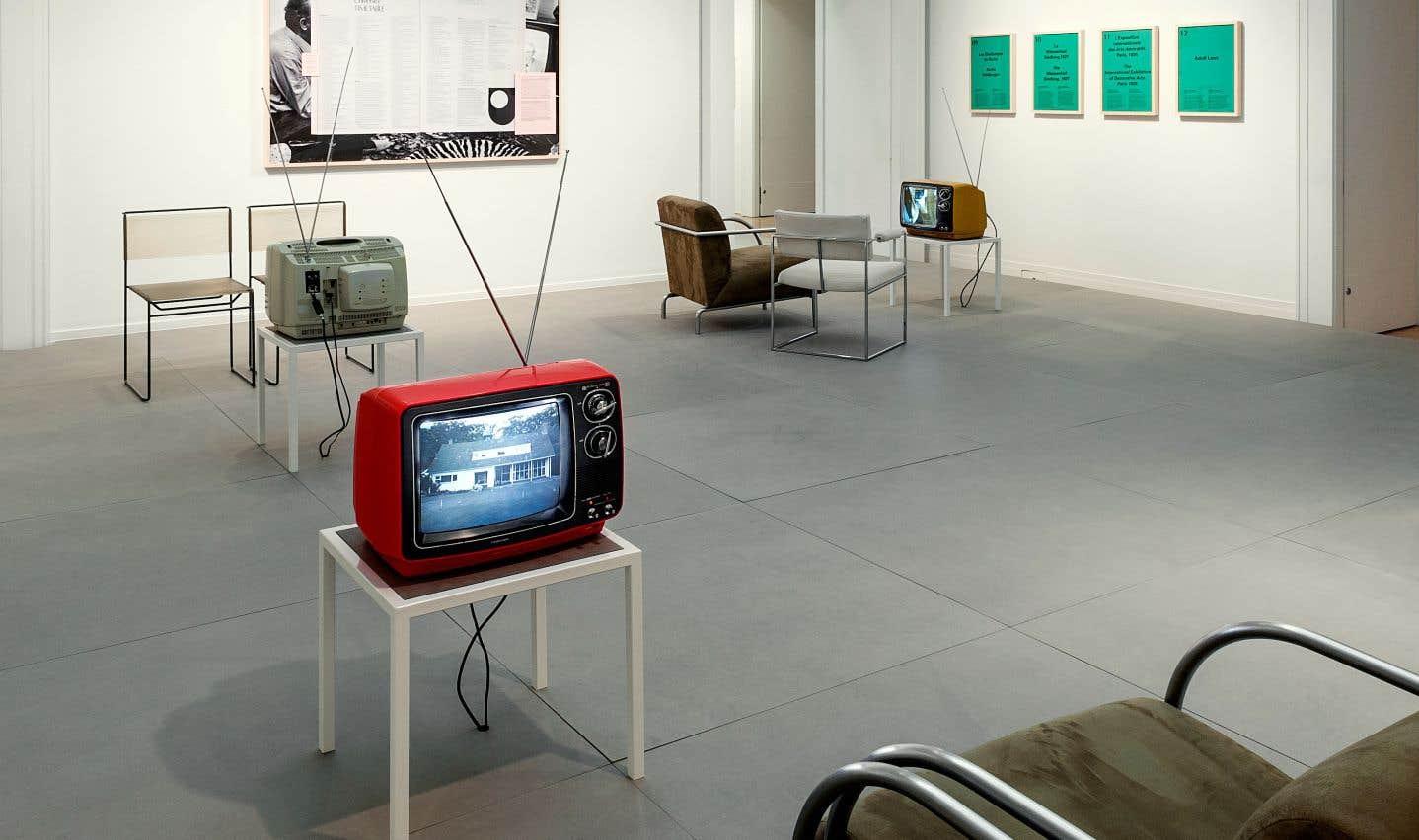 «L'université à l'antenne: diffuser l'architecture moderne.» Vue d'installation, 2017.