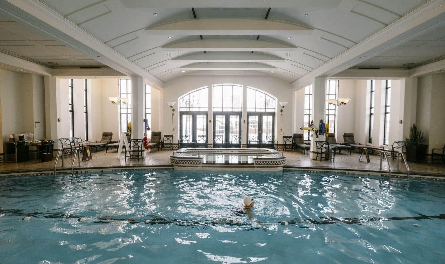La piscine a été ajoutée lors des derniers grands travaux d'importance, en 1993.