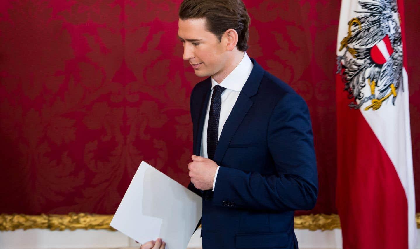 Le nouveau chancelier autrichien, Sebastian Kurz
