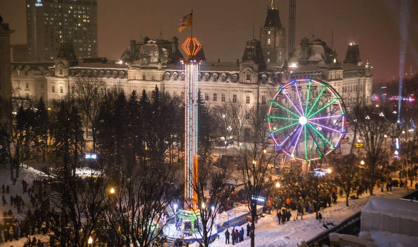 Une grande roue et une tyrolienne sont présentes pour animer le site depuis le 27décembre.