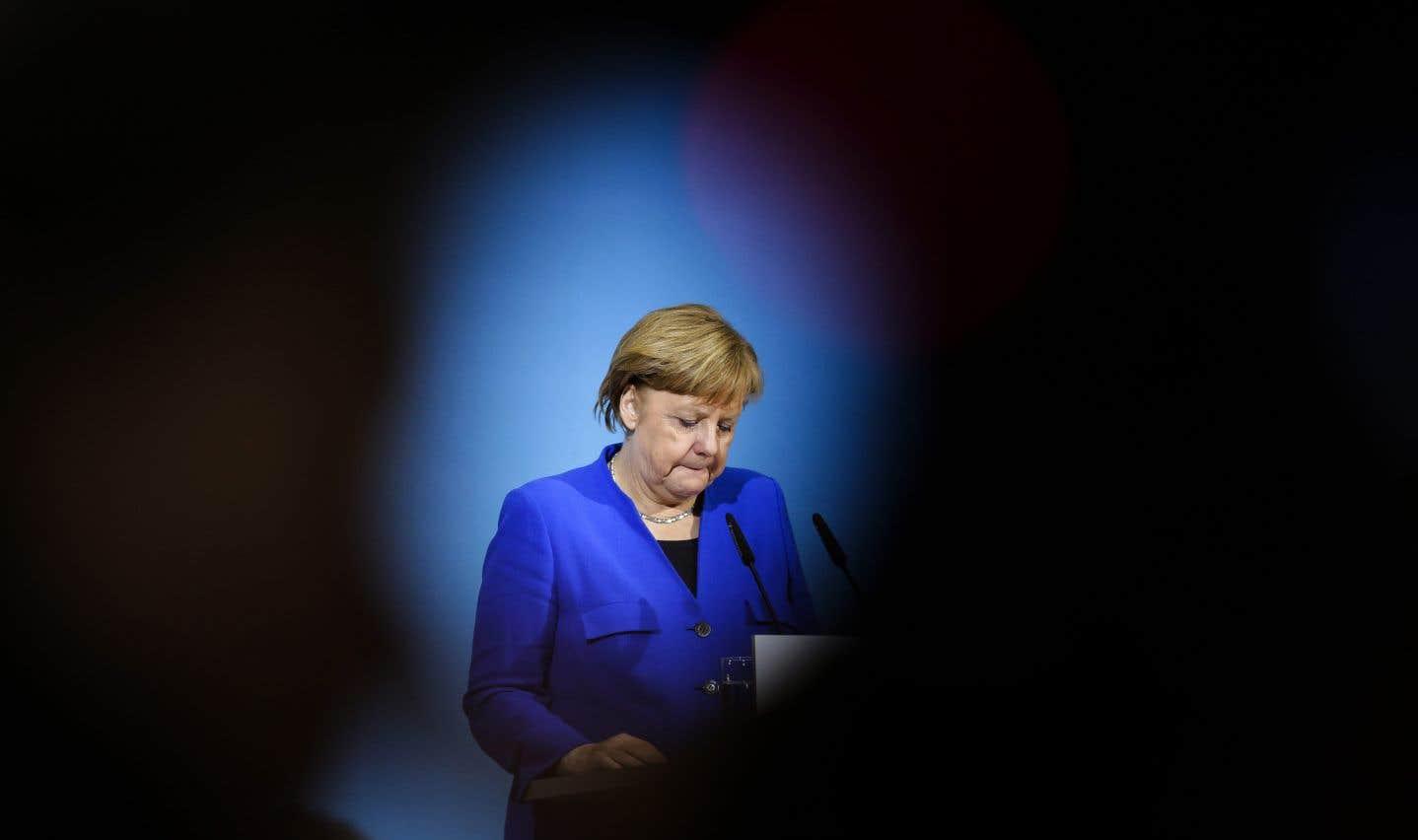 Angela Merkel a promis devant la presse de contribuer à «un nouveau départ de l'Europe».