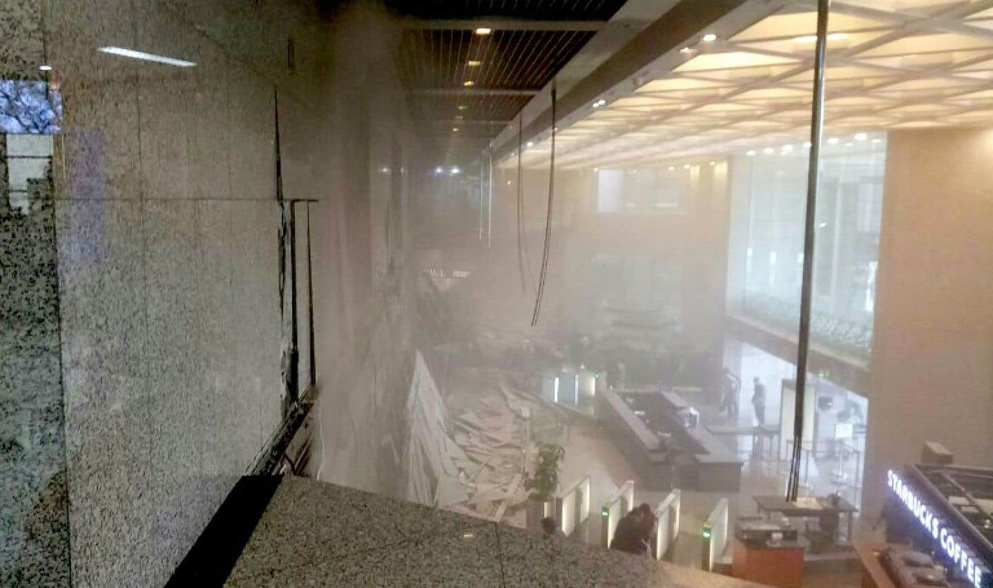 L'effondrement de ce petit étage a fait 75 blessés.