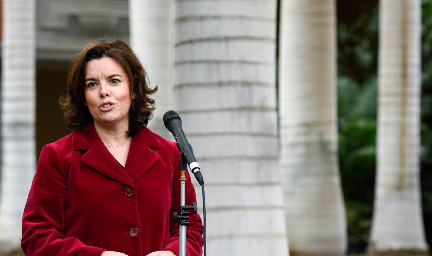 La vice-première ministre espagnole, Soraya Sáenz de Santamaría